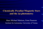 Chemically Peculiar/Magnetic Stars and the a photometry