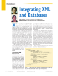 Integrating XML and Databases