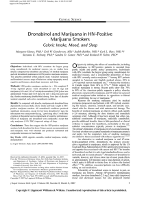 Dronabinol and Marijuana in HIV