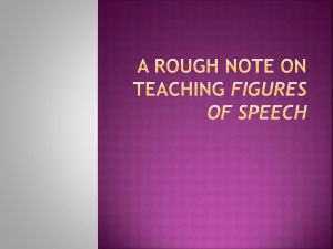 A SHORT NOTE ON TEACHING FIGURES OF SPEECH