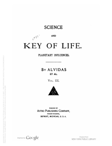 Science and key of life : planetary influences / by