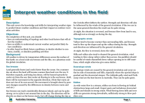 Interpret weather conditions in the field - Canoeing WA
