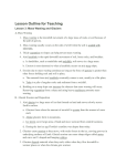 Lesson Outline for Teaching