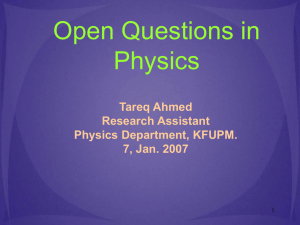Open Questions in Physics