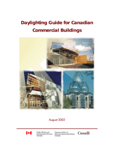 Daylighting Guide for Canadian Commercial Buildings