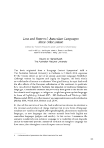 Loss and renewal: Australian Languages Since
