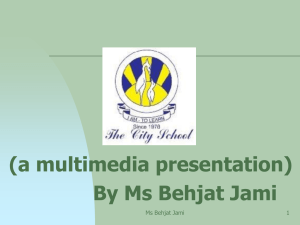 By Ms Behjat Jami
