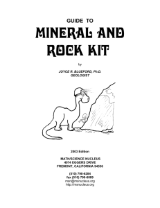MINERAL AND ROCK Kit - Math/Science Nucleus