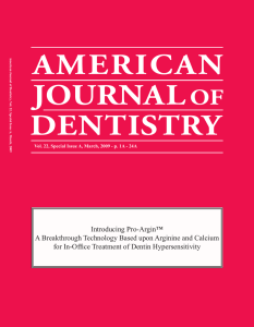 March 2009 ProArgin Sp Issue - the American Journal of Dentistry