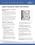 Aspirin Therapy for Adults with Diabetes