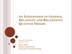 An Integration of General Relativity and Relativistic Quantum