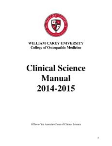 Clinical Science Manual 2014-2015