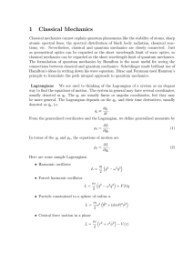 1 Classical Mechanics