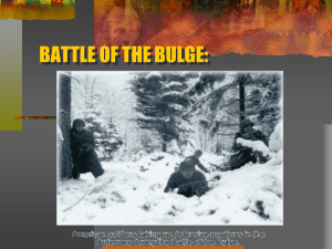 battle of the bulge - Annapolis High School