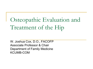Osteopathic Evaluation and Treatment of the Hip