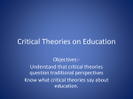 Critical Theories on Education