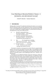 Case Matching in Bavarian Relative Clauses: A