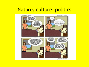 The nature of the problem, and its relationship to culture