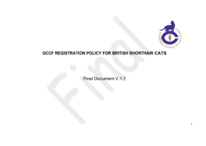 Registration Policy - Colourpointed British Shorthair Cat Club