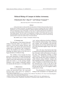 Heliacal Rising of Canopus in Indian Astronomy