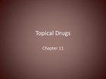 Topical Drugs - NAC / CNA Certification Spokane WA