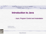 Java Introductrion - Computer Science@IUPUI