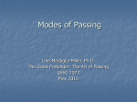 Modes of Passing - The Great Pretender: The Art of Passing