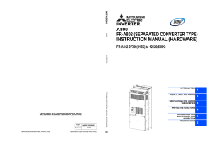 fr-a802 (separated converter type) instruction manual (hardware)