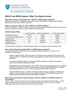 BRCA1 and BRCA2 genes: What You Need to Know