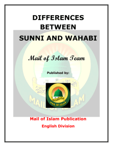 DIFFERENCES BETWEEN SUNNI AND WAHABI Mail of Islam Team