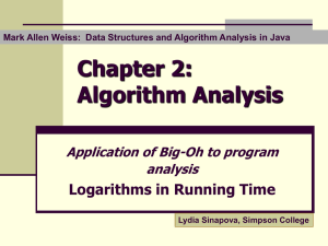 Logarithms in running time
