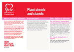 Plant sterols and stanols - British Heart Foundation