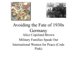 Avoiding the Fate of 1930s Germany
