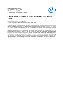 Current Tectonic Stress Field in the Northeastern Margin of Tibetan