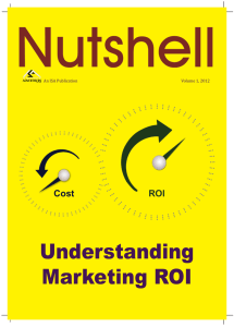 Understanding Marketing ROI - The Indian Society of Advertisers