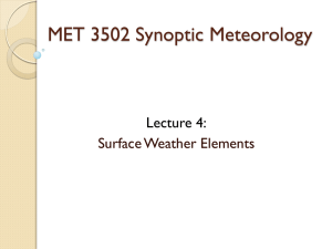 Surface Weather Elements