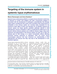 Targeting of the immune system in systemic lupus erythematosus
