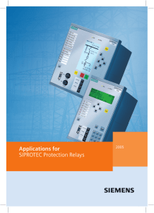 Applications for SIPROTEC Protection Relays