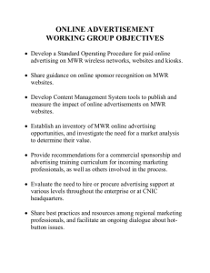 online advertisement working group objectives