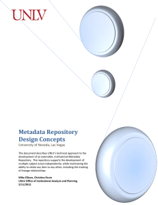 Metadata Repository Design Concepts