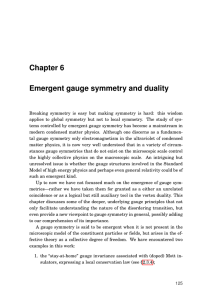 Chapter 6 Emergent gauge symmetry and duality