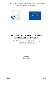 NEW CIRCUIT PRINCIPLES FOR INTEGRATED CIRCUITS