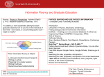 Information Fluency and Graduate Education