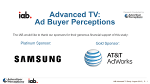 Advanced TV: Ad Buyer Perceptions