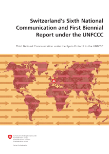 Switzerland`s Sixth National Communication and First