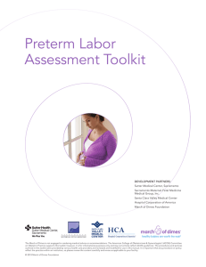 Preterm Labor Assessment Toolkit