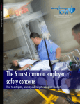 The 6 most common employer safety concerns