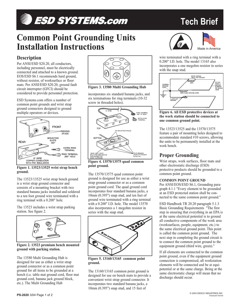 Admirable Common Point Grounding Units Installation Instructions Caraccident5 Cool Chair Designs And Ideas Caraccident5Info