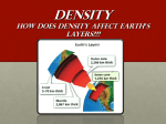 DENSITY How Does Density Affect Earth`s Layers???