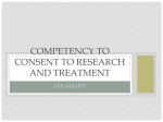Competency to Consent to Research and Treatment